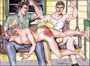 jonathan-gay-male-homoerotic-spanking-corporal-punishment-artwork-b